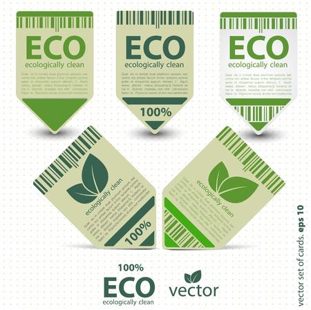 food sales: Eco labels with retro vintage design  Vector Illustration