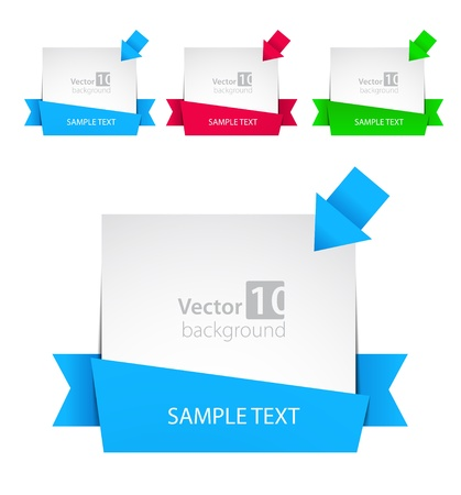 banner design: Vector banner with ribbon and color arrows