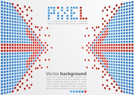 Pixel art  Vector background Ilustração
