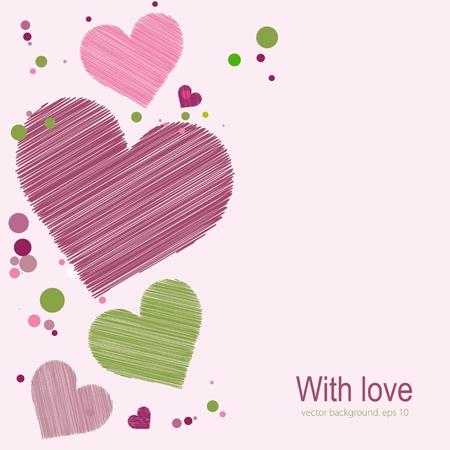 vector hearts: Sketch hearts  Vector