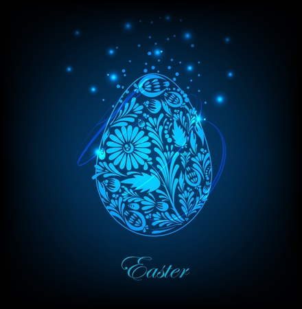 orthodox easter: Floral easter egg  Vector