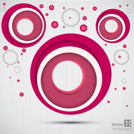 bubble background: Retro abstract background  Vector Illustration