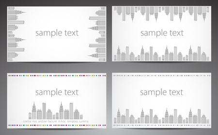 italian architecture: Set of cards  City theme  Vector