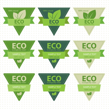 eco etichette Vector Vettoriali