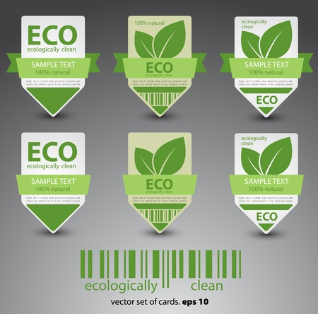 eco labels  Vector Stock Vector - 12868081