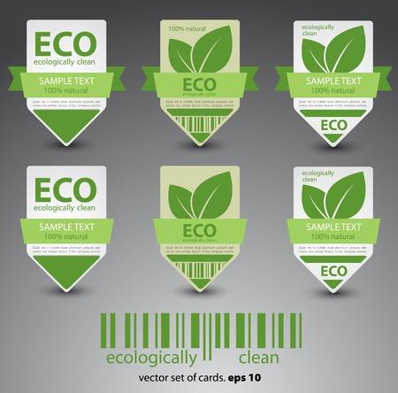eco labels  Vector Stock Vector - 12868081