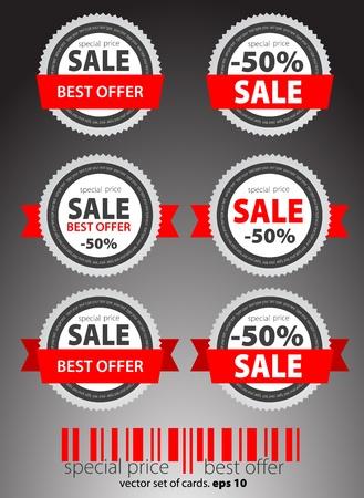 buono sconto: Set di Vector rosso biglietti in vendita