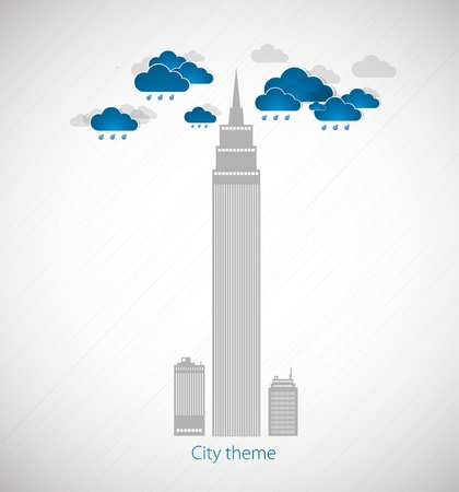 Bad weather background  City theme