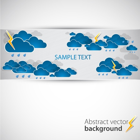 Bad weather background Stock Vector - 12868083