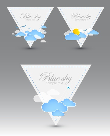 Set of good weather triangle elements  Stock Vector - 12868069