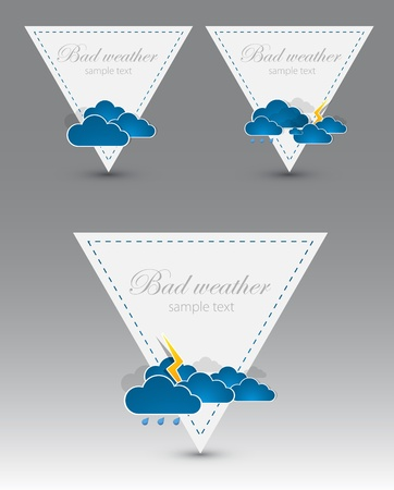 Set of weather triangle elements  Vector Vector