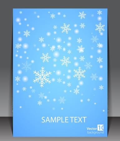 snow flakes: Winter theme blank  Illustration