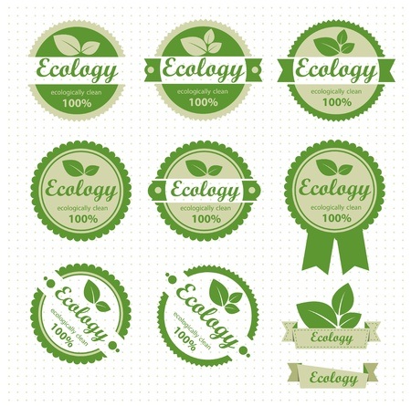 Eco lable set Vector