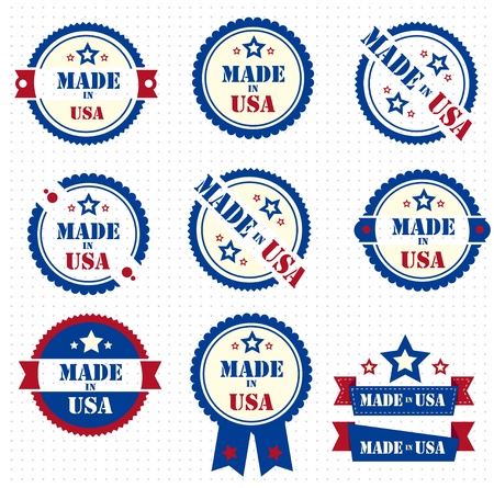 made: Made in USA  Vector set  Illustration