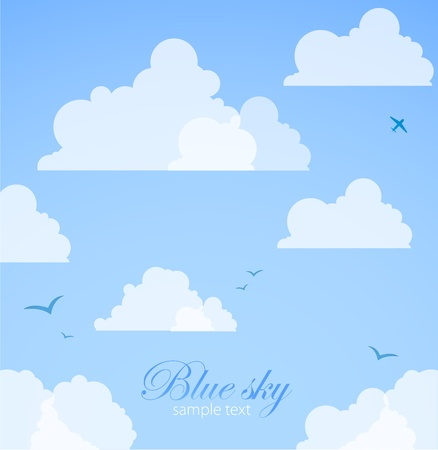 cloudy sky: Good weather background  Blue sky with clouds