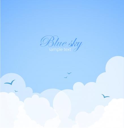 cartoon clouds: De fondo buen tiempo Cielo azul con nubes