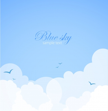 cloud sky: Good weather background  Blue sky with clouds