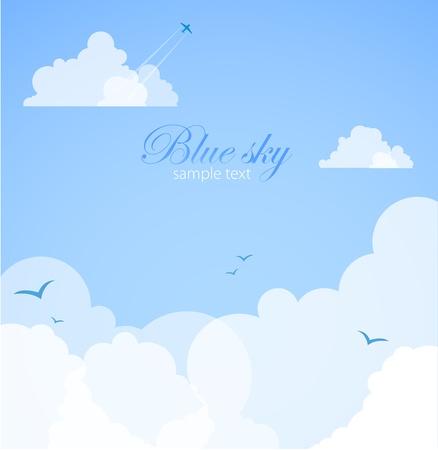 nubes caricatura: De fondo buen tiempo Cielo azul con nubes