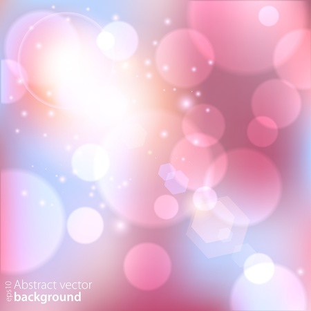 Abstract pink background with glowing lights  Vector