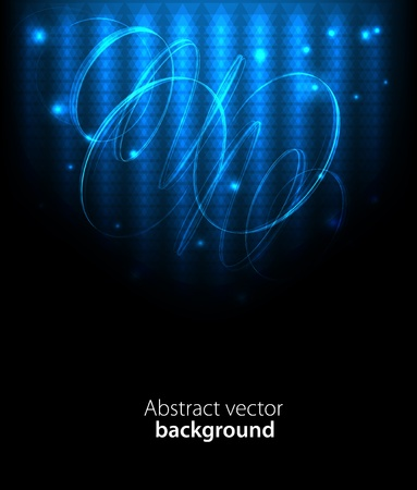 Dark abstract background with glowing lights Stock Vector - 13009345