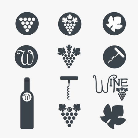 Wine theme icons Stock Vector - 13009350