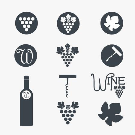 Wine theme icons Vector