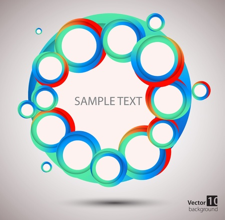 Abstract circle  background Stock Vector - 13009450
