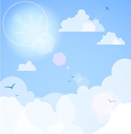 cartoon clouds: Buen clima.