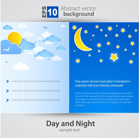 Day and night  Vector Background Vector