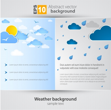 good nature: Good and bad weather background