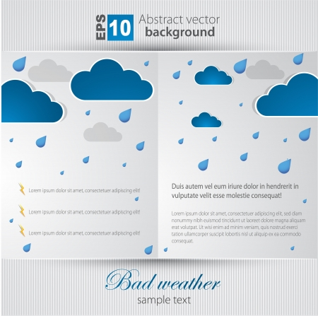 clean air: Bad weather background  sky with clouds and lightnings