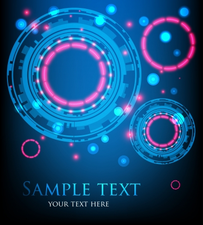 glowing lights: Blue abstract background with glowing lights  Vector Illustration