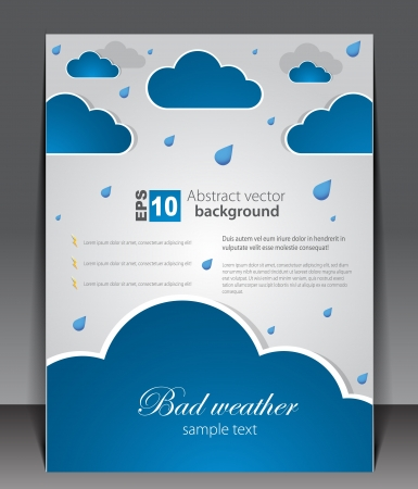 bad weather: Bad weather  Sky with clouds and lightnings Illustration