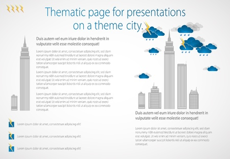 Bad weather background  City theme Vector