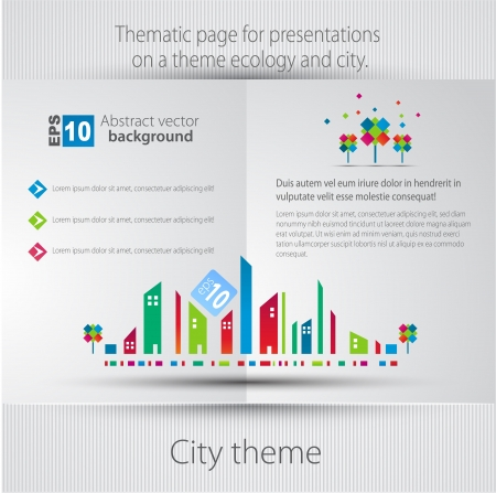magazine template: Abstract background  City theme  Vector