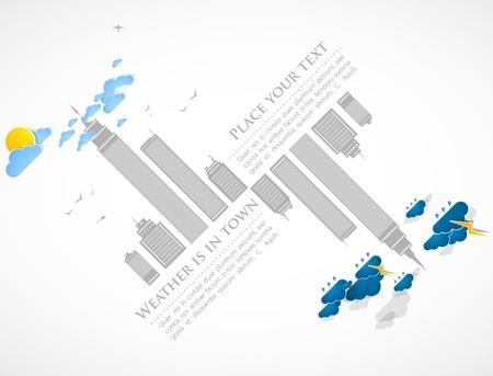 sky scraper: City theme background