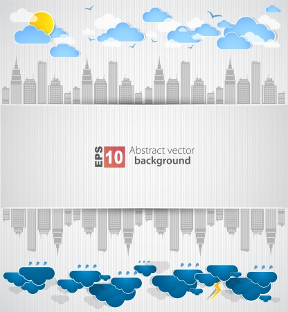 City theme background  Vector