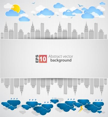 heavy rain: City theme background