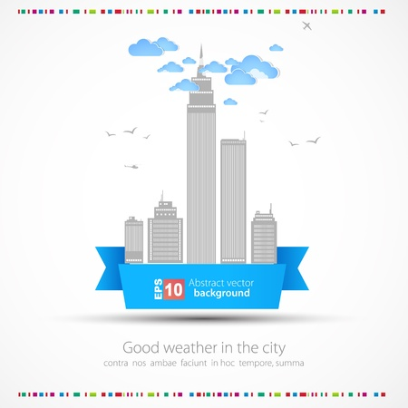 cityscape silhouette: Abstract color background  City theme  Vector