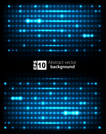 glowing lights: Dark abstract blank with glowing lights  Vector