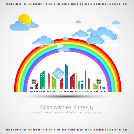 City Tipo di sfondo illustrazione