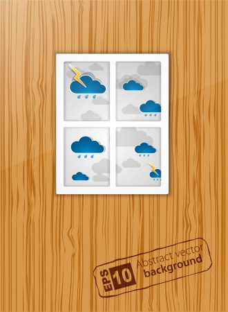 There is a bad weather after a window  Stock Vector - 13721183