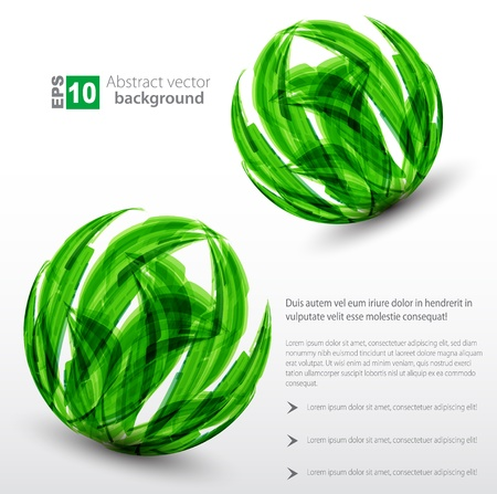 abstract background  green sphere  Vector