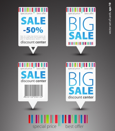 Set of color sale pointers Vector
