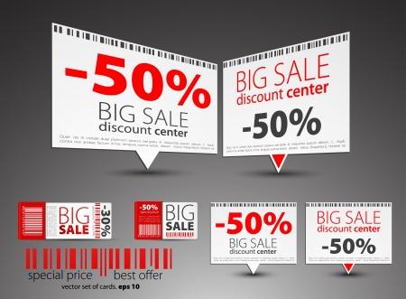 Set di puntatori di vendita di colore