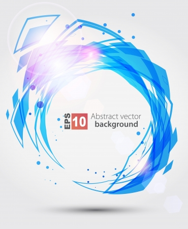 light trails: Abstract blue background  Illustration