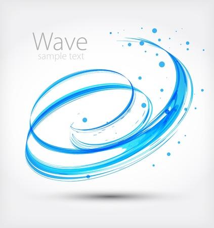 抽象的な波  イラスト・ベクター素材