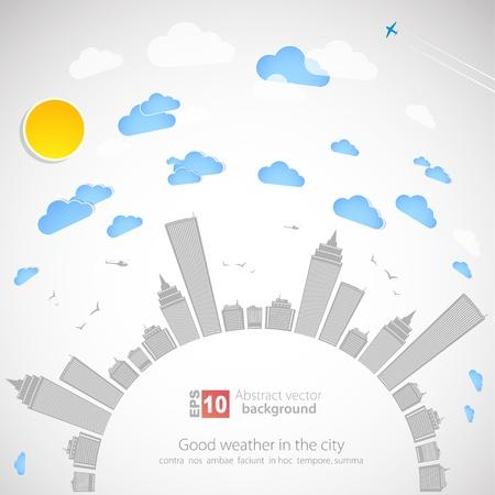 cityscape silhouette: Sky-scraper   City theme background