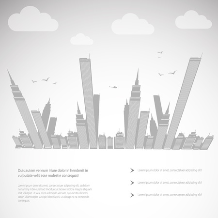 Abstract background   City theme  Vector