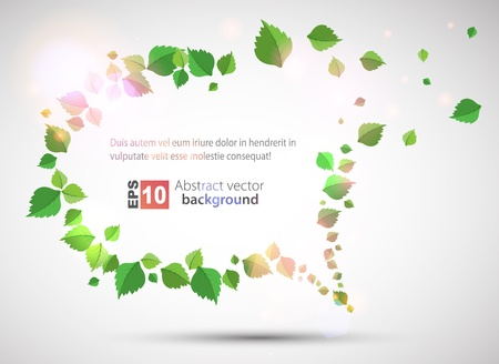 Summer Bubble for speech made from leaves Vector